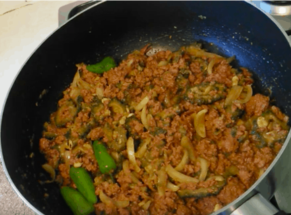 Bitter Gourd Recipe With Mince