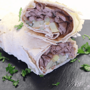Beef Shawarma Wrap Recipe